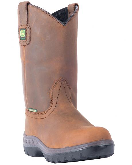 John Deere WCT Waterproof Wellington Work Boots