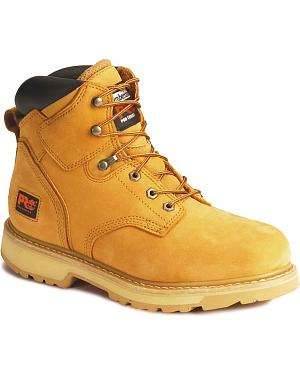 "Timberland PRO Pit Boss 6"" Lace-Up Work Boots - Steel Toe"