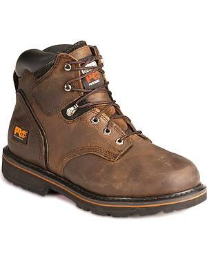 "Timberland Pro Pit Boss 6"" Lace-Up Work Boots"
