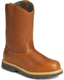 John Deere Wellington Work Boots - Steel Toe