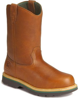 John Deere Wellington Work Boots - Steel Toe