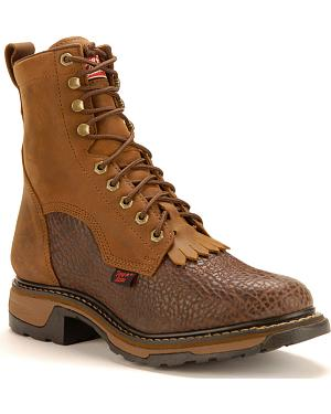 "Tony Lama Shoulder 8"" Lace-Up Work Boots"