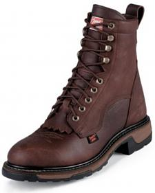 "Tony Lama Waterproof Pitstop 8"" Lace-Up Boots"