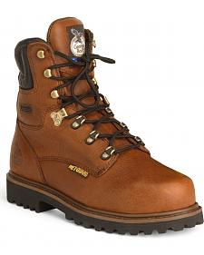 "Georgia 8"" Lace-Up Work Boots - Steel Toe"