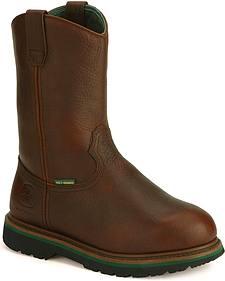 John Deere Met Guard Wellington Work Boots - Steel Toe