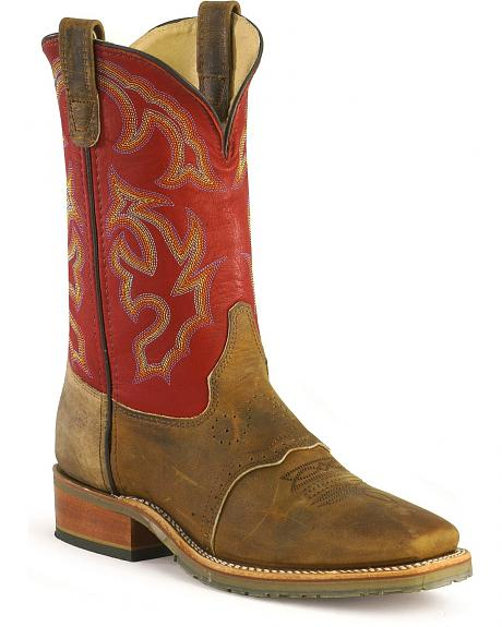 Double H ICE Saddle Vamp Work Roper Boots - Square Toe