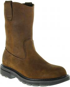 Wolverine Nubuck Wellington Pull-On Work Boots - Steel Toe