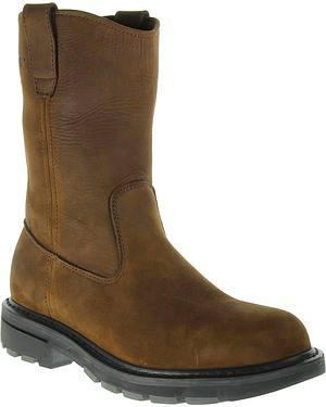 Wolverine Nubuck Wellington Pull-On Work Boots - Steel Toe