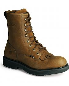 "Wolverine Ingham DuraShocks Lace-Up 8"" Work Boots"