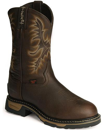 Tony Lama TLX Waterproof Pitstop Leather Work Boots Steel Toe Western & Country TW1009