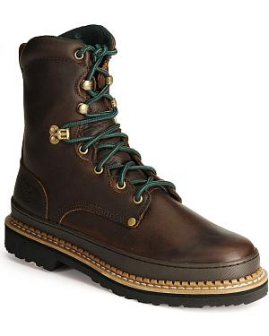 "Georgia Giant 8"" Lace-Up Work Boots - Steel Toe"