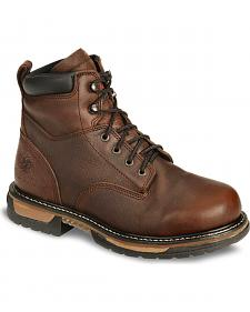 "Rocky IronClad 6"" Waterproof Lace-Up Work Boots - Round Toe"