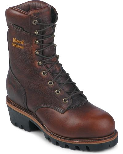"""Chippewa 9"""" Insulated Waterproof Super Logger Boots Steel Toe Western & Country 25420"""