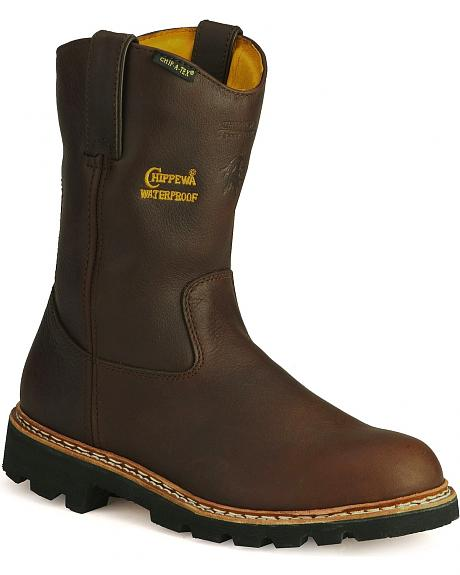 Chippewa Waterproof Insulated Pull-On Work Boots
