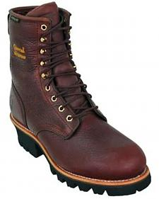 "Chippewa Waterproof Insulated 8"" Logger Boots - Steel Toe"
