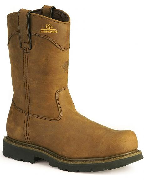 Chippewa IQ Sportility Pull-On Work Boots - Steel Toe