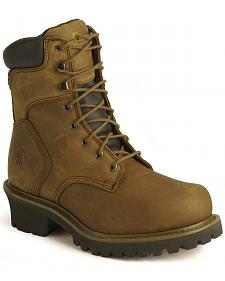 "Chippewa IQ Insulated 8"" Lace-Up Logger Boots - Steel Toe"