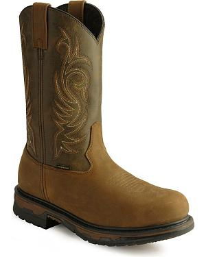 Laredo Waterproof H2O Western Work Boots - Steel Toe