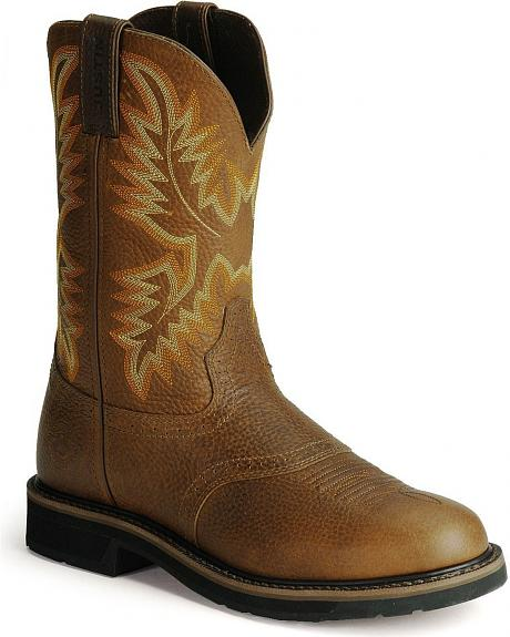 Justin Stampede Work Boots - Round Toe