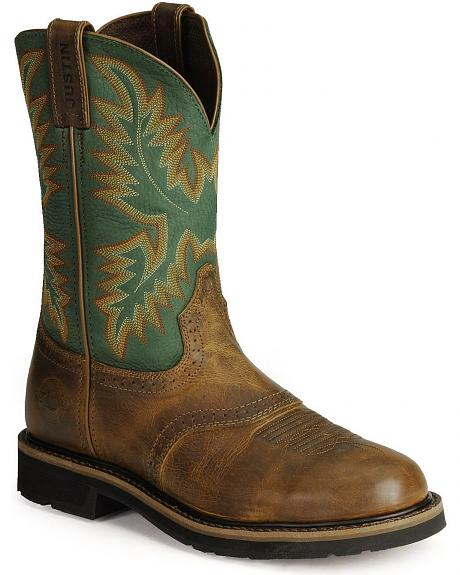 Justin Men's Stampede Work Boots - Steel Toe