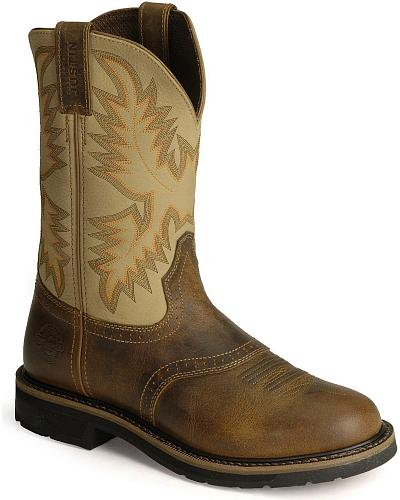 Justin Stampede Work Boots Steel Toe Western & Country WK4661