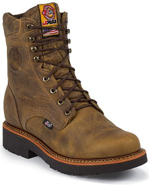 "Justin J-Max 8"" Work Boots - Soft Toe"