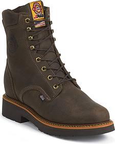 """Justin J-Max 8"""" Work Boots - Soft Toe"""