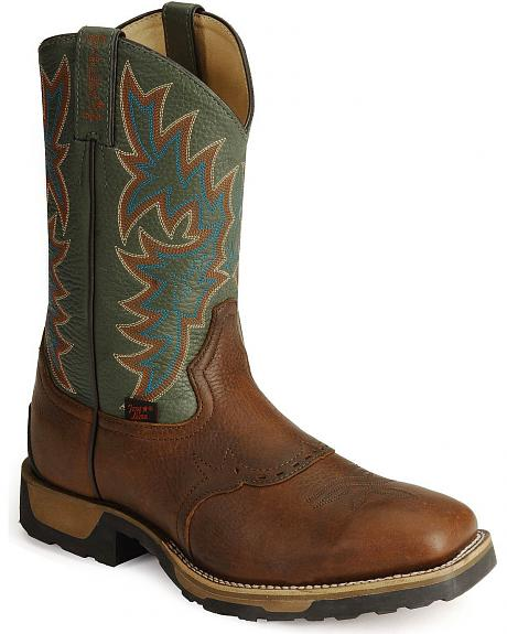 Tony Lama TLX Cowboy Work Boots - Soft Square Toe