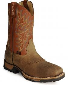 Tony Lama TLX Cowboy Work Boots - Steel Square Toe
