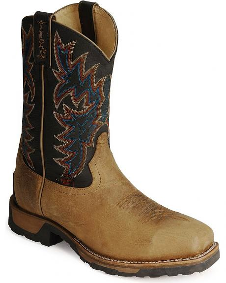 Tony Lama TLX Cowboy Work Boots - Steel Toe