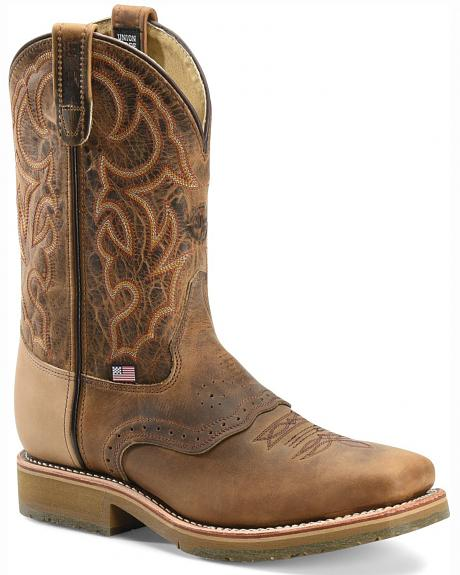 Double H Roper Cowboy Work Boots - Square Steel Toe