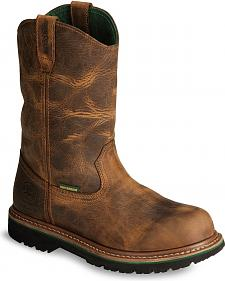 John Deere Men's Waterproof Wellington Work Boots - Steel Toe