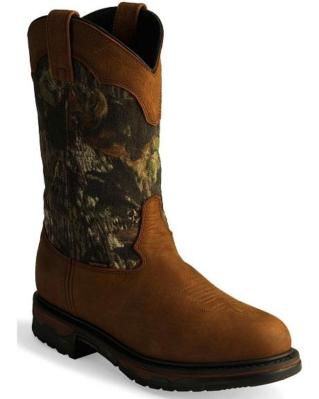 Laredo Camo Waterproof Work Boot - Soft Round Toe