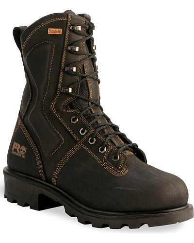"""Timberland Pro TiTAN 10"""" Waterproof Terrain Boots Safety Toe Western & Country 52567"""