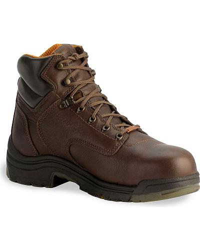 """Timberland Pro 6"""" Waterproof TiTAN Boots Composition Toe Western & Country 26078"""