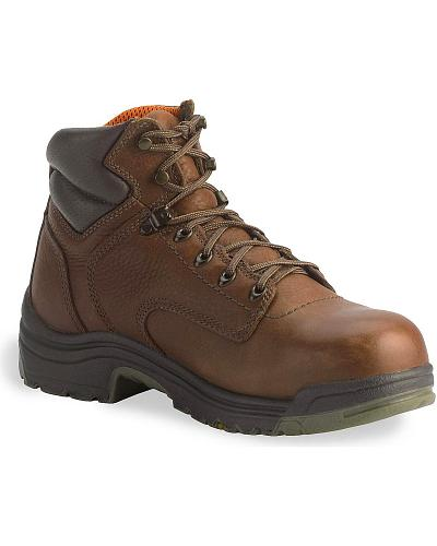 "Timberland Pro Coffee 6"" TiTAN Boots Soft Toe Western & Country 24097"