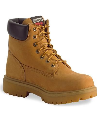 """Timberland Pro 6"""" Insulated Waterproof Boots Soft Toe Western & Country 65030"""