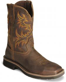 Justin Stampede Tan Waterproof Work Boots - Steel Toe