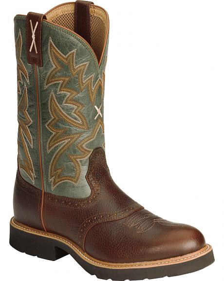 Twisted X Pullon Work Boot - Round Toe