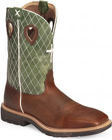 Twisted X Lite Weight Work Boots - Square Toe