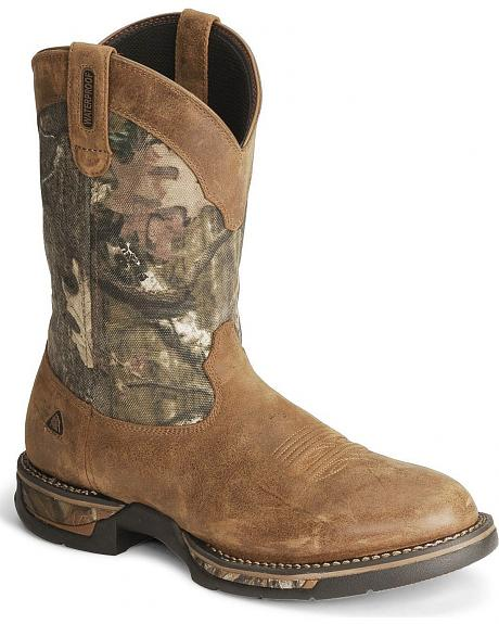 Rocky Long Range Waterproof Pull-on Work Boot - Round Toe