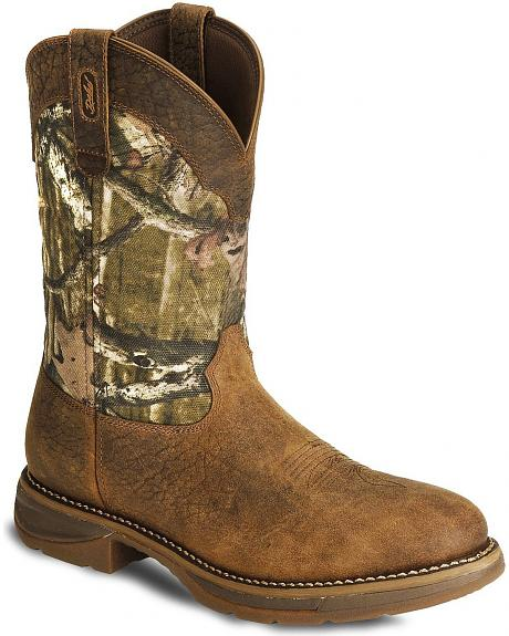 Durango Rebel Camo Work Boot - Round Toe