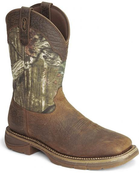 Durango Rebel Camo Work Boot - Square Toe