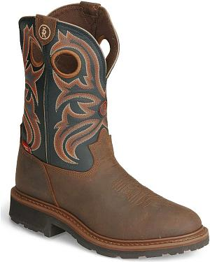 Tony Lama 3R Pull-On Work Boots - Round Toe