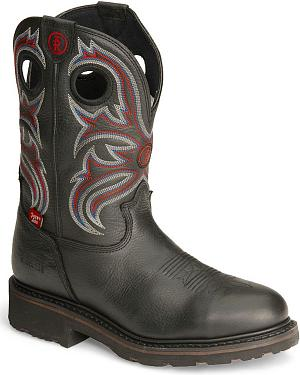 Tony Lama 3R Waterproof Pull-On Work Boots - Steel Toe