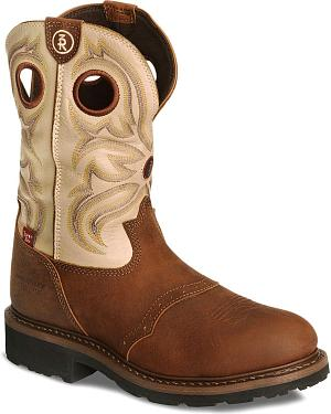 Tony Lama 3R Pull-On Waterproof Work Boots - Steel Toe