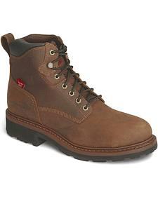 """Tony Lama 3R 6"""" Lace-Up Waterproof Work Boots - Steel Toe"""