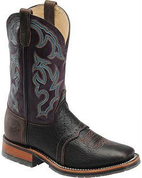 Double H Ice Saddle Vamp Western Work Boot - Square Toe