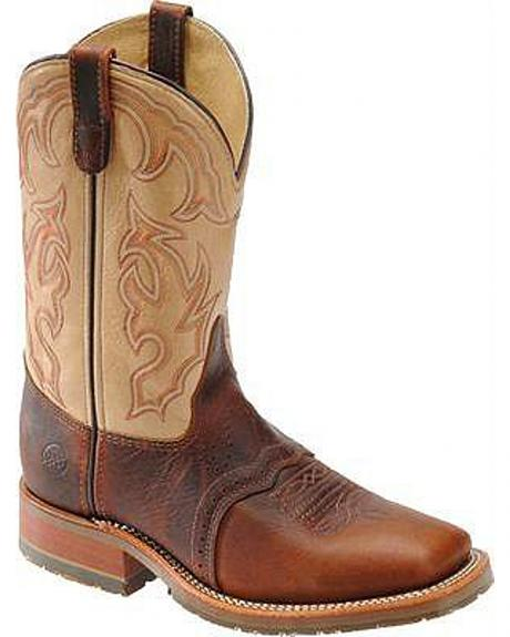 Double H Ice Saddle Cowboy Boots - Square Toe