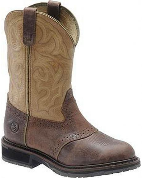 Double H Roper Unit Bottom Work Boots - Round Toe